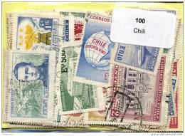 100 Timbres Thème Chili - Chile