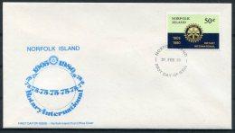 1980 Norfolk Island Rotary International FDC - Norfolk Island