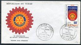 1975 Tchad Rotary International FDC - Chad (1960-...)