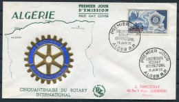 1955 Algeria Rotary International FDC - Algeria (1924-1962)