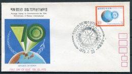 1975 Korea Rotary International FDC - Corée (...-1945)