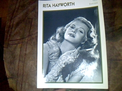 "Foto Portrait  De Star "" L Encyclopedie Du Cinema ""    Rita Hayworth En 1945 18x13 Cm - Reproductions"