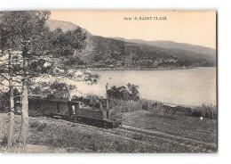 CPA 83 Saint Clair La Baie Le Train Tramway Ligne De Toulon Saint Raphael - Le Lavandou
