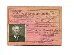 Permis De Conduire Pour Automobiles Délivré En Saone Et Loire (1932 ?) + Cachet Fiscal Au Dos - Transports