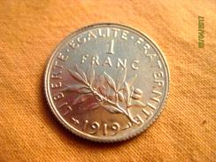 France 1 Franc 1919 (silver) - Francia