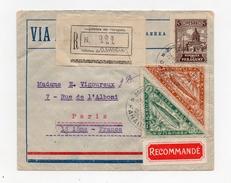 !!! LETTRE RECOMMANDEE PAR AVION D'ASUNCION POUR PARIS DU 22/2/1933, BEL AFFRANCH RECTO VERSO - Paraguay