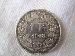 Suisse: 1 Franc 1908 - Suiza