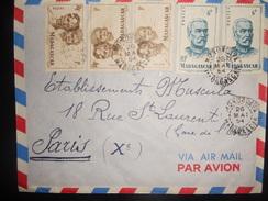 Madagascar , Lettre De Morondava 1954 Pour Paris - Madagascar (1889-1960)