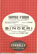 TRAPPOLE D'AMORE - SINCERI  Testoni Abbate Armstrong Cahn  Edizioni Musicali Connelly - Jazz