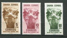 Sahara Espagnol ** N° 85 à 87 - Pour L'enfance Indigène (tête D'autruche) - - Spaanse Sahara