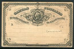 Guatemala - Entier Postal , Repiquage Au Verso Commerciale , Non Voyagé - Ref A120 - Guatemala