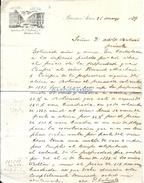 71509 ARGENTINA BUENOS AIRES DE LABORDE AL SR BULLRICH CARTA INFORME DE PROPIEDAD MEMBRETE AÑO 1889 NO POSTAL POSTCARD - Alte Papiere