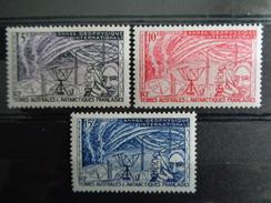 1957 - Y&T N° 8 à 10 ** - ANNEE GEOPHYSIQUE INTERNATIONALE - Neufs