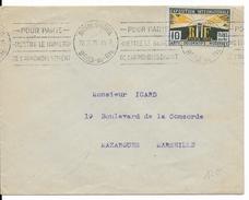 EXPO ARTS DECORATIFS De PARIS - 1925 - YVERT N° 210 SEUL Sur ENVELOPPE De MARSEILLE Avec MECA => MAZARGUES - Postmark Collection (Covers)