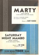 MARTY - SATURDAY NIGHT MAMBO  Warren Roy Webb  Edizioni Musicali Tiber - Folk Music