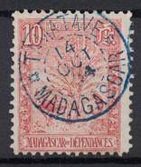 "BELLE OBLITÉRATION CAD BLEU "" TAMATAVE / MADAGASCAR "" (FLEURONS) 1904 SUR TB TIMBRE N° 67 (TYPE ZEBU ARBRE VOYAGEUR) - Madagascar (1889-1960)"