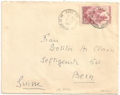 YT N° 1129 Cathédrale De ROUEN SEUL Sur Enveloppe Pour BERN Suisse. PARIS XIV. 1958 - Marcophilie (Lettres)
