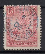 """BELLE OBLITÉRATION CAD BLEU """" BETROKA / MADAGASCAR """" 1906 SUR TB TIMBRE N° 68 (TYPE ZEBU ARBRE VOYAGEUR) - Oblitérés"""