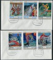 1970 Manama Ajman Sapporo Winer Olympics / Rotary International Set On 2 FDCs - Rotary, Lions Club
