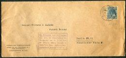 1917 Netherlands S'Gravenhage, Holland Vereenigde Octrooibureaux Cover - Siemens & Halske, Patent Bureau, Berlin - Period 1891-1948 (Wilhelmina)