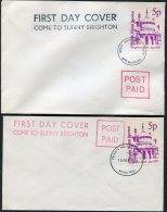 1971 GB Brighton X 2 Postal Strike Covers - 1952-.... (Elizabeth II)