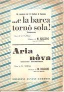 ...E LA BARCA TORNO' SOLA - ARIA NOVA Ruccione Fiorelli  Edizioni Suvini - Zerboni - Musica Popolare