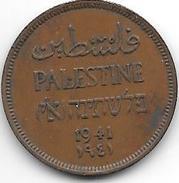 *palestina 1 Mil 1941  Km 1 Xf - Autres – Asie