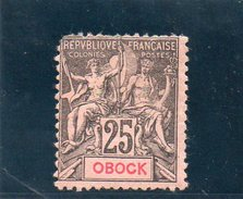 OBOCK 1892 * DEFECTEUX - Obock (1892-1899)