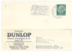 Carte Commerciale Allemagne - Deutsche Dunlop Gummi Compagnie A.-G. Hanau Am Main - Publicidad