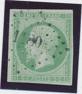 Empire ND 5 C N° 12 Vert Jaune Pc 1130 (Doudeville) Signé Calves TB. - 1853-1860 Napoléon III.