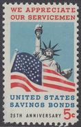 !a! USA Sc# 1320 MNH SINGLE - Savings Bond - Etats-Unis