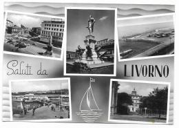 SALUTI DA LIVORNO - VEDUTE  VIAGGIATA  FG - Livorno