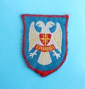 CROATIAN SERB ARMY Knin RSK Old & Rare Patch Republica Srpska Krajina Croatie Serbe Armee Ecusson Chetnik Serbia Croatia - Patches