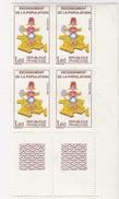 Bloc De 4 Recensement Avec Erreur Sans 7 Sur La Corse (N°39 Sur La Planche) YT N° 2202 Et 2202a - Curiosités: 1960-69 Neufs