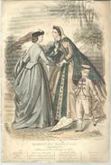 """Gravure De Mode """"magasin Des Demoiselles"""" Du 25 Septembre 1863 - Estampes & Gravures"""