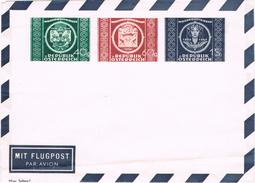 24062. Entero Postal AUSTRIA 1949. 75 Aniversario U.P.U. Aerogramme