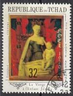 """227I  Ciad 1970 """"Madonna Del Latte..."""" Quadro Dittico Melun Dipinto J. Fouquet Paintings Preobliterato"""