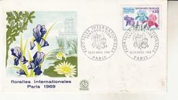 Enveloppe Floralies Internationales 1969 Inauguration - 1960-1969