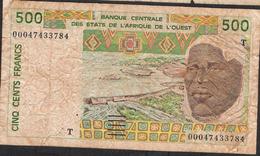 W.A.S. LETTER T TOGO  P810Tk 500 FRANCS (20)00  FINE NO P.h. ! - Togo