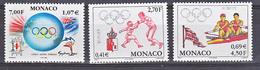 Monaco 2239 2261 2262 JO Sydney TB ** MNH SIN CHARNELA Prix De La Poste 2.17 - Monaco