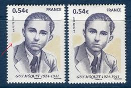 France - N° Yvert 4107/ Maury 4106  Guy Môquet, Variété 1 Fond Jaune Décalé + 1 Normal  Neufs Luxes - Ref A150 - Abarten: 2000-09 Ungebraucht