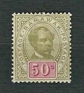 SARAWAK 1899-1900 - Sir Charles J. Brooke - 50 C. - MH - Sg: MY-SR 46 - Sarawak (...-1963)