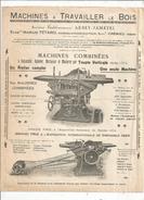 Publicité, Machines à Travailler Le Bois, Ets Marius TETARD , Isére, CREMIEU , 2 Scans,  Frais Fr :1.55€ - Advertising