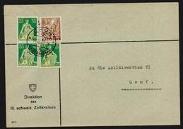 Schweiz 1935/37 Michel Nr.n D 8, 5 Brief, Siehe Detailbeschreibung Unten (SBK D8 + 6, Ca. 980,- SFr.) - Dienstpost
