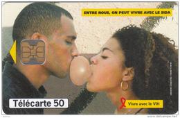 GUADELOUPE - Vivre Avec Le Sida, 11/98, Used - Antilles (French)