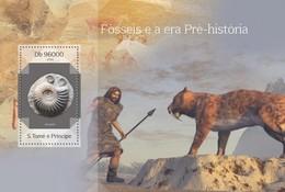 SAO TOME E PRINCIPE 2014 SHEET FOSSILS FOSILES FOSSEIS FOSSILES FOSSILE FOSSILEN St14403b - Sao Tome And Principe