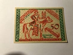 Allemagne Notgeld Macdeburg 50 Pfennig NEUF - Collections