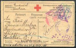 1917 Russia Germany POW Kriegsgefangenen Guerre Red Cross Stationery Postcard. Censor