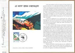 Sur Feuillet CEF , FDC 1993  Laruns .  LE PETIT TRAIN D'ARTOUSTE . - FDC