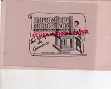 18 - BOURGES- BUVARD IMPRIMERIE MARCEL BOIN- 27 RUE DE PARADIS-  PRESSE - Buvards, Protège-cahiers Illustrés